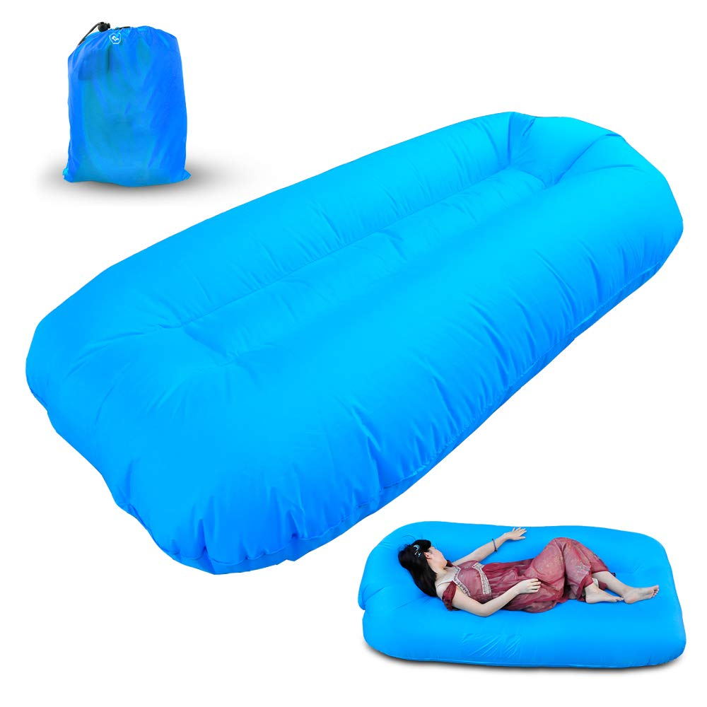 Refial Inflatable Lounger Chair, Air Sofa Mattress, Easy to Inflate and Puncture Resistant, Lightweight, Suitable for Outdoor, Swimming Pool, Beach, Camping, Festival FETMALL