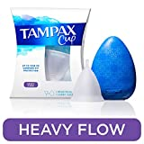 Tampax Menstrual Cup, Heavy Flow, Tampon Alternative, Reusable, 12 Hours of Flexible Comfort-fit Protection, with Free Always Thin Liners
