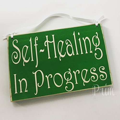 Prim and Proper Decor 8x6 Self Healing In Progress Session Do Not Disturb Spa Salon Treatment Room Relaxation by Prim and Proper Decor (Image #2)