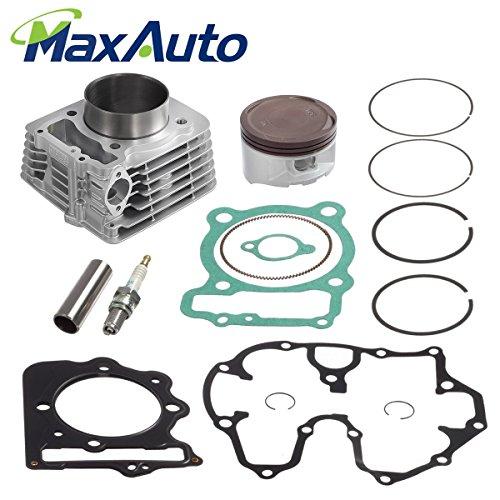 MaxAuto 85mm Bore Cylinder Piston Kit Rings Gaskets Pin Top End Set for 1999-2008 Honda Sportrax 400 (Honda Ring Set)