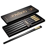 Goldage 5-Pairs Fiberglass Dishwasher-safe Chopsticks (LONG VERSION Auspicious Cloud - Gold)