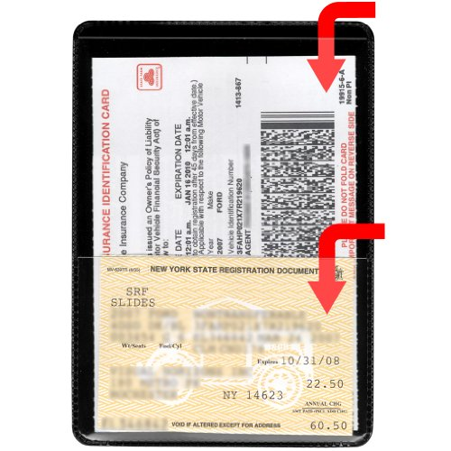 (StoreSMART - Black-Back Auto Insurance & ID Card Holders - 10 Pack - RFS20-BK10)