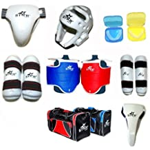 One set Star Sports WTF Taekwondo Sparring Gear Protectors Guards Complete one Set