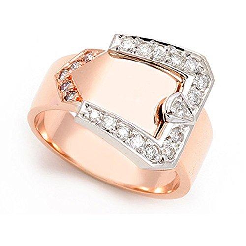 18k Rose Gold Pave set Diamond Buckle Ring (G-H/SI, 1/3 ct.), 13