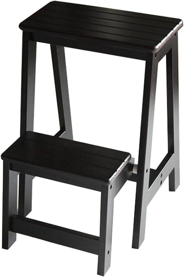 LAXF- Sillas Escalera Plegable Madera Taburete de Madera de Dos Niveles Taburete Home Furniture Rack Step Stool: Amazon.es: Hogar