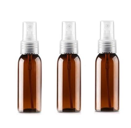 6 pcs 30 ml recargable vacío plástico SPARY botellas con bomba Tops y antipolvo protectora para