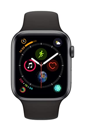 421de2935 Apple Watch Series 4-44mm Space Gray Aluminum Case with Black Sport Band,  GPS