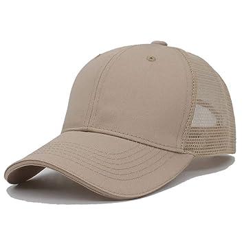 ZKADMZ  Cap Sombreros Masculinos Sólidos del Verano Gorras para Hombres  Mujeres Mesh Snapback Gorras Casuales 28df4f398ad
