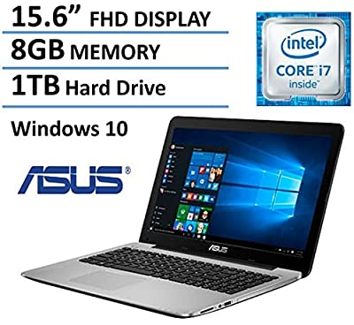 "Asus Premium 15.6"" Full HD High Performance Laptop 2016 Flagship Edition, Intel Core i7-5500U 3GHz, 8GB Ram, 1TB HDD, DVD Burner, HDMI, VGA, Webcam, Windows 10"