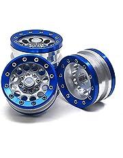 Nrpfell 4 Piezas AleacióN de Aluminio 1.9 Beadlock Ruedas Llantas para 1/10 RC Crawler Axial SCX10 / CC01 / D90 90027 90034 para TRX4 para RC Pieza del VehíCulo