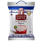 INDIA GATE Super Premium Basmati Rice | Aged Rice with Long Grains & Rich Aroma | 5kg Pack