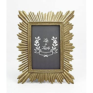 Beautiful 4x6 Gold Resin Sparkler Picture Frame