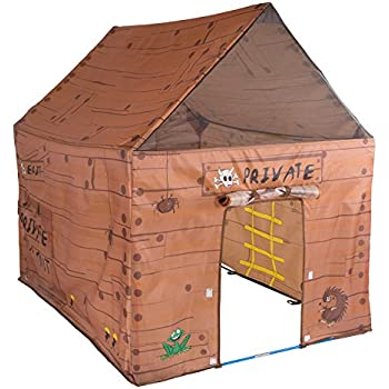 "Pacific Play Tents Kids Club House Tent Playhouse for Indoor / Outdoor Fun - 50"" x 40"" x 50"""