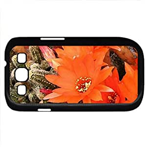 Cactus flowers (Flowers Series) Watercolor style - Case Cover For Samsung Galaxy S3 i9300 (Black)