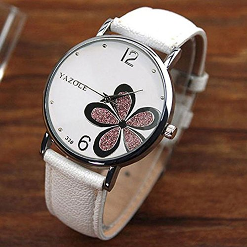 Fashion Style Women's Watches Luxury Diamond Case PU Leather Strap Top Brand Round Dial Quartz Wrist Watch