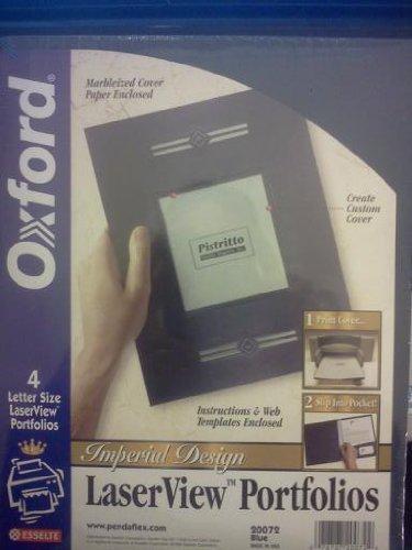- Oxford Monogram Series Business Portfolio, Cover Stock, Blue, 4 per Pack (20072)