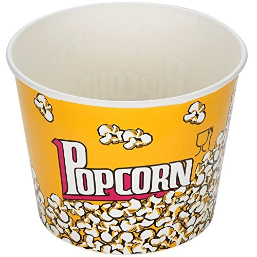 Carnival King 85 oz. Popcorn Bucket, Pack of 25 (Popcorn Round compare prices)