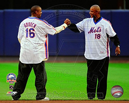 Dwight Gooden & Darryl Strawberry Final Game at Shea Stadium 2008 Photo 14 x 11in