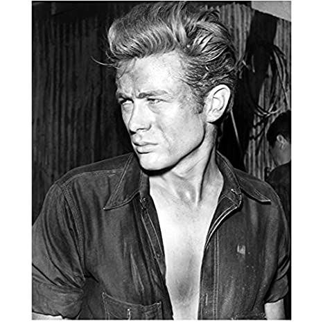 4c49088c8bf James Dean with Dirty Face and Shirt Open 8 x 10 Inch Photo at ...