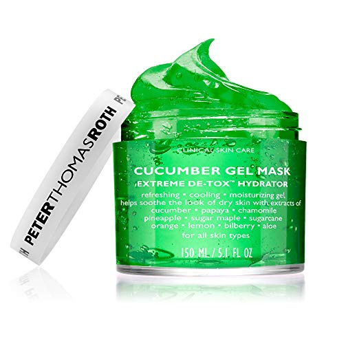 Cucumber Gel Mask Extreme De-Tox Hydrator, Cooling and Hydrating Facial Mask, Helps Soothe the Look of Dry and Irritated Skin