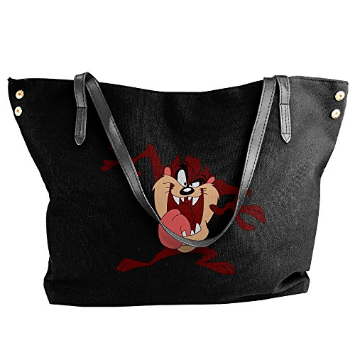 Looney Tunes Tasmanian Devil Taz Women's Canvas Handle Single Shoulder Bag/Handbag (Looney Tunes Handbag)