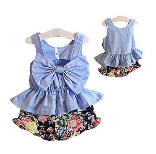 Girls Summer Print Short Outfit