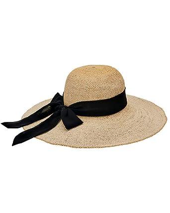 San Diego Hat Company Women s Scarf Bow Trim Woven Paper Floppy Hat ... 5c17f053528