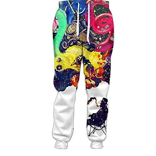 Wholesale Frozac 2018 Mens Hombre 3D Casual Loose Full Length Pants 5XL as Shown XXXL for sale