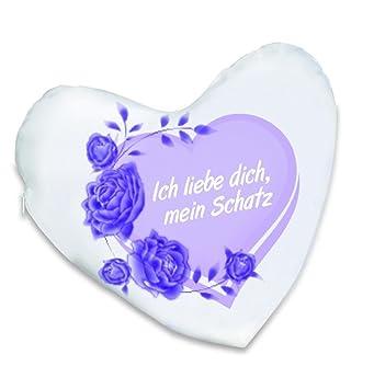 Lasermax Valentinstag Geschenk Foto Kissen Kuschelkissen Herz Ich