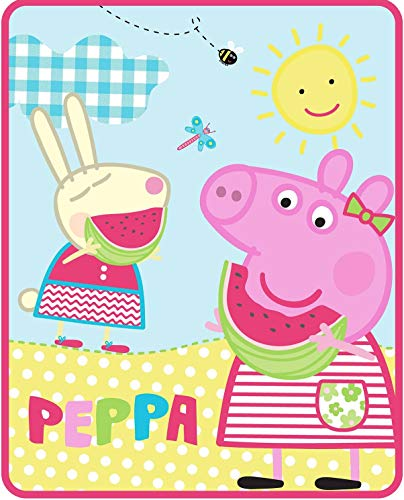 (Astley Baker Davies Peppa Pig Silky Soft Throw Blanket - 40 in. x 50 in.,Multi)