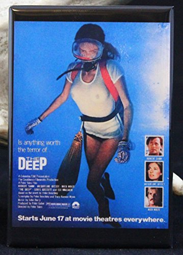The Deep Movie Poster - Refrigerator Magnet. Jacqueline Bisset