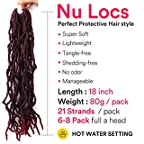 Nu Locs Crochet Braids 18inch Most Natural Faux