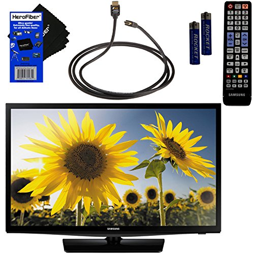 Samsung UN28H4000 28″ inch 720p 60Hz Class LED TV + Remote Control + Xtech High-Speed HDMI Cable w/Ethernet + HeroFiber Ultra Gentle Cleaning Cloth