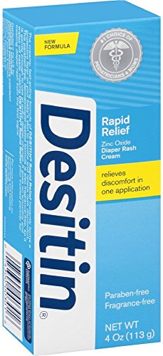 DESITIN Rapid Relief Zinc Oxide Diaper Rash Cream 4 oz (10 Pack) by Pharmapacks