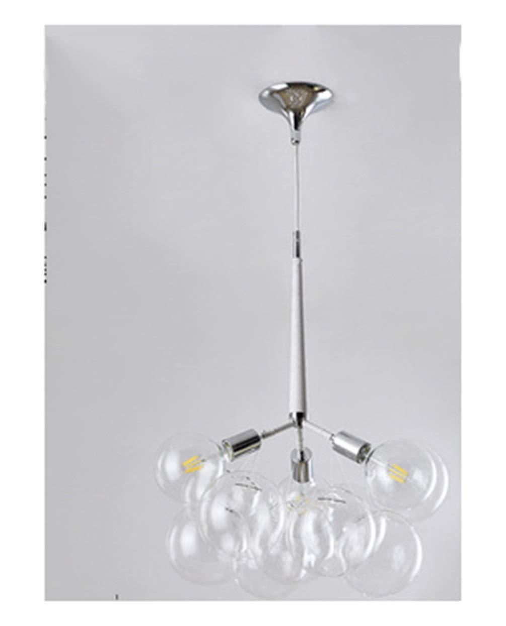 B.YDCM Sputnikシャンデリア - シンプルファッションバブルボールシャンデリア寝室レストランリビングルーム人格ガラスバブルライト - ペンダントライト B07TTFT78W