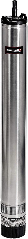 Einhell GE-DW 1100 N-A Brunnenpumpe - Einhell Tiefbrunnenpumpe GE-DW 1100 N-A (1100 W, 6000 L/h, 55 m Förderhöhe, 98 mm Pumpendurchmesser, Automatikfunktion, Trockenlaufschutz, 8-stufiges Laufradsystem, Rückschlagventil)