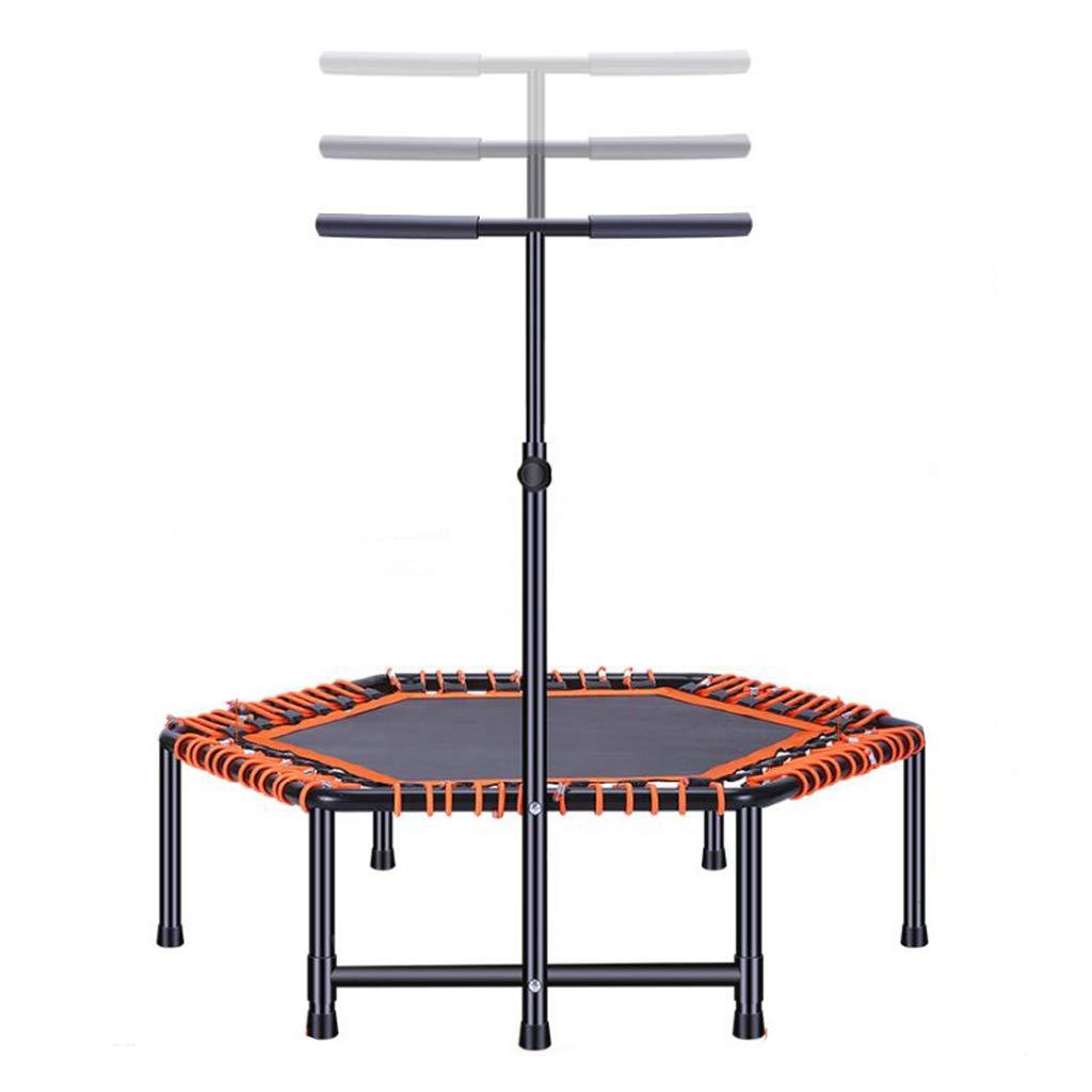 Trampoline Erwachsene Gymnastik Haushalt Indoor-Abnehmgeräte Faltbares 225 kg tragen (Farbe : Orange, Größe : 120  110(33-140) cm)