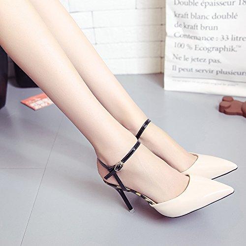 Chaussures Tip Fine EU36 SHOESHAOGE Heeled Sandales Pour Chaussures Vide Femme Flat Avec High Femmes XwwtSvxqC