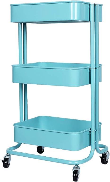 cuisine 4 /étages Chariot de cuisine /à roulettes avec roulettes bureau Pour salle de bain