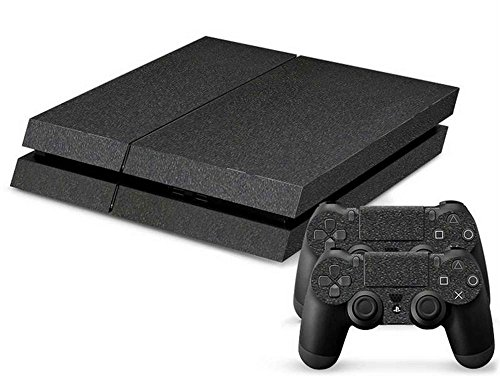 mod-freakz-console-and-controller-vinyl-skin-set-charcoal-leather-look-for-playstation-4