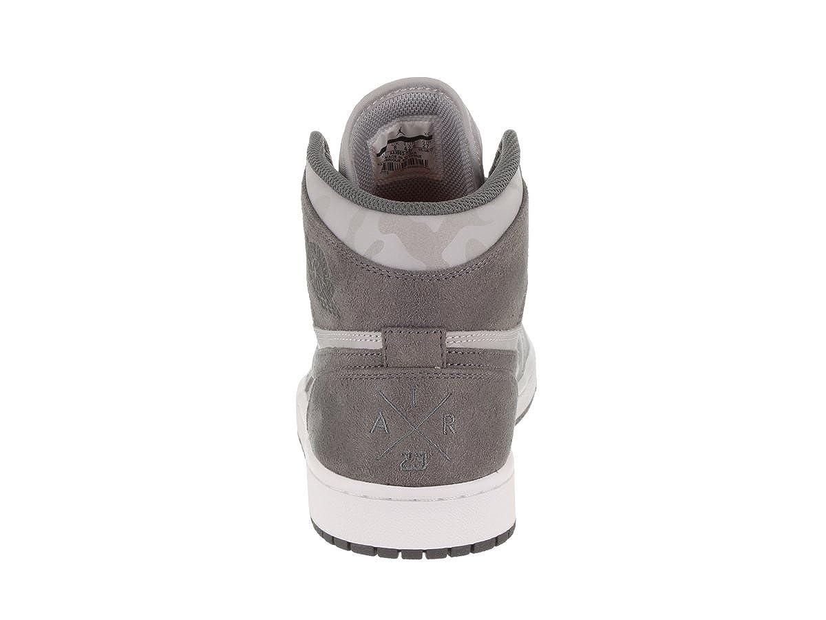 reputable site 11a29 d9dd8 Amazon.com   Nike Air Jordan 1 Retro High PREM Men s Basketball Shoes Wolf  Grey Dark Grey, 9.5   Basketball