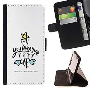 Dragon Case - FOR Sony Xperia Z1 Compact D5503 - you raised me - Caja de la carpeta del caso en folio de cuero del tir¨®n de la cubierta protectora Shell