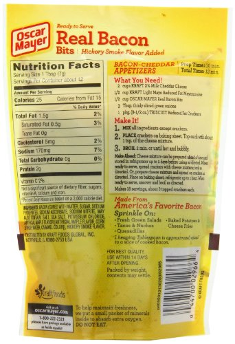 Oscar Mayer Selects Uncured Tur 2012 further Turkey Bacon Recall moreover How To Cook Uncured Back Bacon together with Hormel Bacon Pieces Nutrition together with Precooked Bacon Nutrition. on oscar mayer uncured bacon