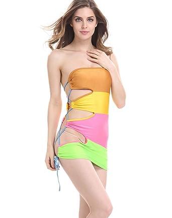Falda Sexy De Costura De Mujer Ceñida Camisón De Lencería De ...