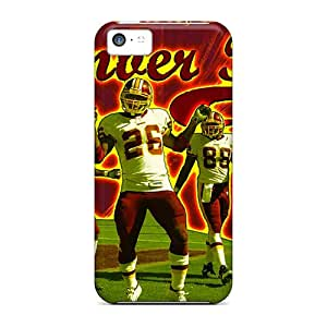 Scratch Protection Hard Cell-phone Case For Iphone 5c With Allow Personal Design Colorful Washington Redskins Image KimberleyBoyes