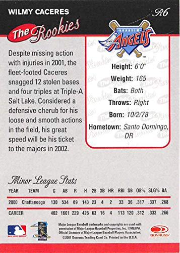 Amazon.com: Baseball MLB 2001 Rookies #R6 Wilmy Caceres NM ...