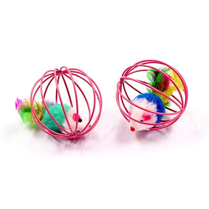 Amazon.com : Best Quality Random Color Funny Toys False Mouse in Rat cage Ball for pet cat Kitten Play Toy Mouse Ball Best Gift Cats Products : Pet Supplies