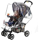 J is for Jeep Standard Stroller Weather Shield,Baby Rain Cover, Universal Size, Waterproof, Water Resistant, Windproof, See Thru, Ventilation, Clear, Plastic, Protection, Shade, Umbrella, Pram, Vinyl, Double