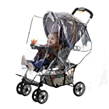 Baby : J is for Jeep Standard Stroller Rain Cover, Stroller Rain Cover, Baby Rain Cover, Stroller Accessories, Stroller Weather Shield, Universal Size, Waterproof, Windproof, Ventilation, Clear Vinyl Plastic