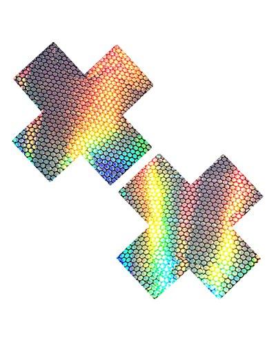 iHeartRaves Liquid Party Hologram X Factor Rave Pasties Nipple (Halloween X Factor)